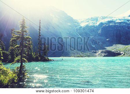 Beautiful Joffre lake in Canada