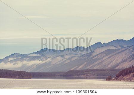 Serenity lake in Canada