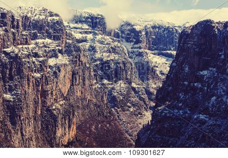 Vikos gorge of Pindos mountains at Epirus in Greec