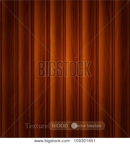 vector wood background (texture) of dark brown wooden planks