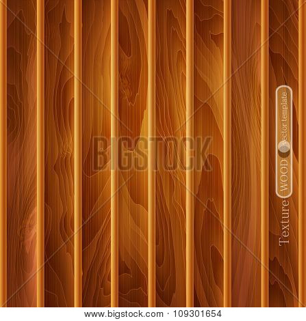 vector wood background (texture) of light-brown wooden planks