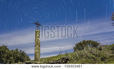 Ancient Cross In The Field
