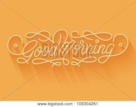 Good morning lettering
