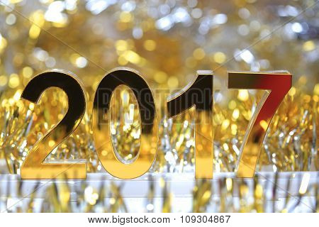 Golden 2017 3D Digital Icon