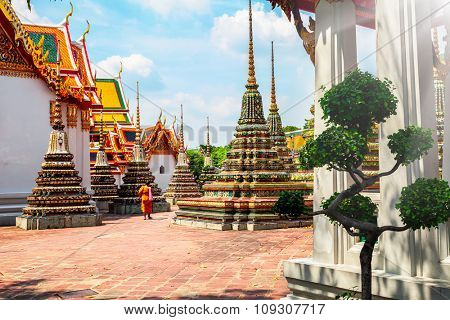 Royal grand palace and garden in Thailand