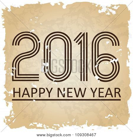 Happy New Year 2016 On The Old Paper Background Eps10