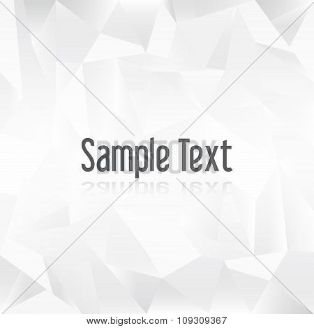 White Paper Creased Pattern With Sample Text Eps10