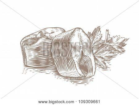 Two Pieces Of Mackerel
