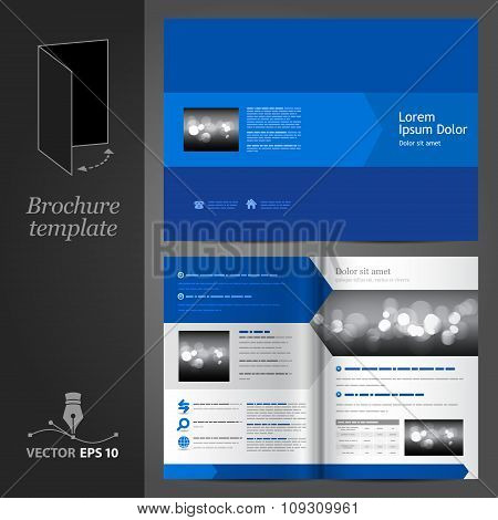 Blue Brochure Template Design