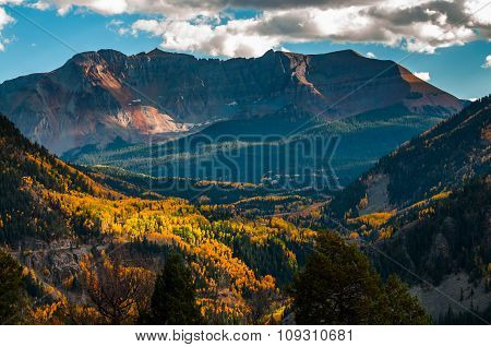 San Bernardo Mountain Fall Colors Colorado Landscape