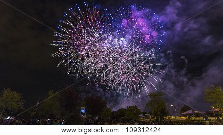 Landscape With Fireworks