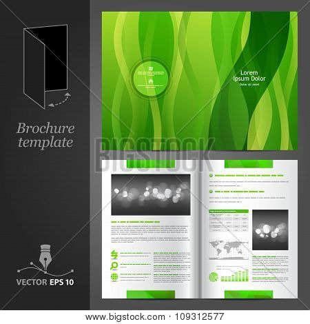 Green Brochure Template Design