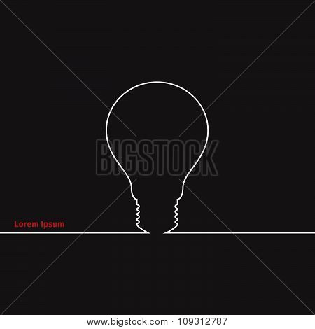 Advertising card with lightbulb