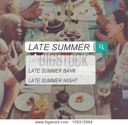 Late Summer Holiday Vacation Relaxation Concept