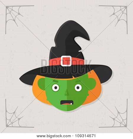 Witch Head icon vector
