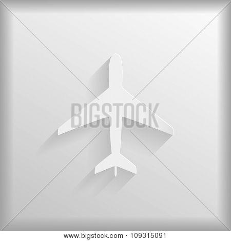Paper aeroplane on a white background
