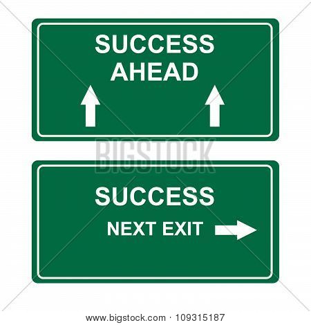 Business success road to success