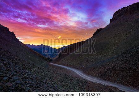 Ophir Pass After Sunset