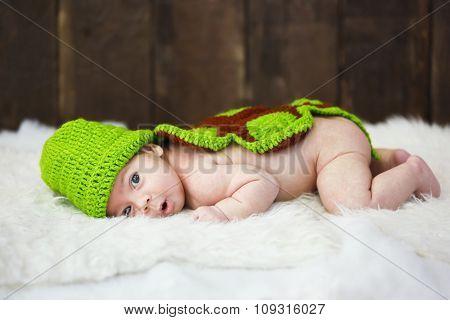 Cute Baby In Studio