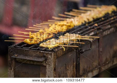 Yellow Grilled Satay, Pork Satay