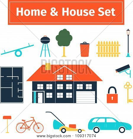 Home and house set