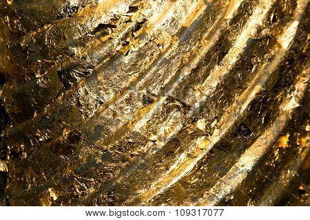 Gold Paper On Buddha Scrapture