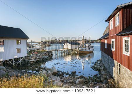 Fishing Village Reine In Lofoten Islands