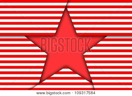Image Red Patriotic Star.