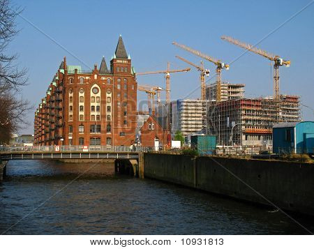 Warehouse district in Hamburg
