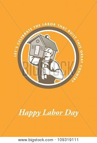 Labor Day Greeting Card Builder Hammer House Circle