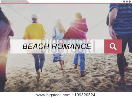 Beach Romance Leisure Summer Vacation Holiday Concept