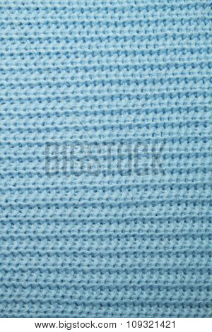 The texture of blue woolen cloth