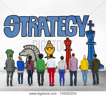 Strategy People Business Planning Ideas Brainstorm Concept