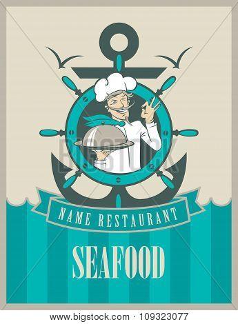 Retro Seafood Menu