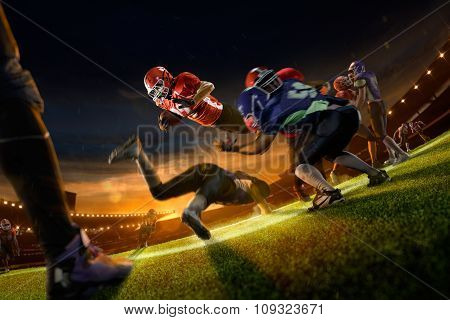 american football players in action on grand arena
