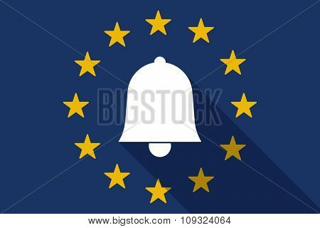 European Union  Long Shadow Flag With A Bell