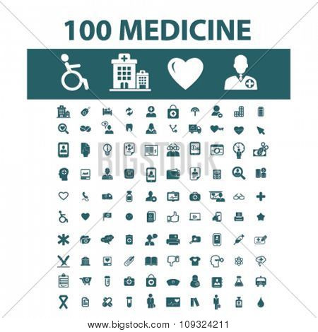 medicine, medical and health care  icons, signs vector concept set for infographics, mobile, website, application