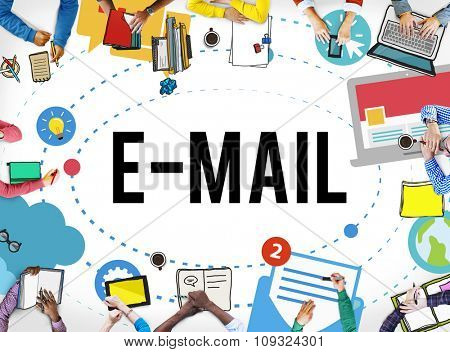 Email Internet Message Connection Text Communication People Concept