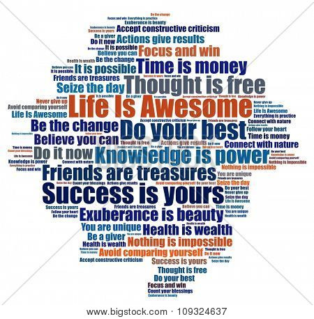Life is awesome and other positive phrases