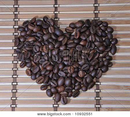 Grains Of Coffee As A Heart