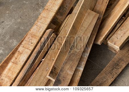 A Pile Of Fresh Wood Plank