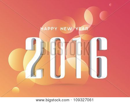 Greeting card design with stylish text 2016 on shiny colorful background for Happy New Year celebration.
