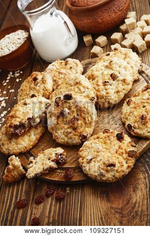 Homemade Cookies With Raisins