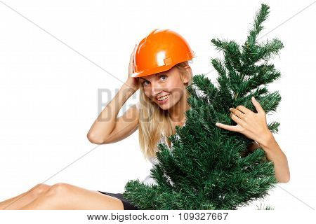 Christmas Construction Worker