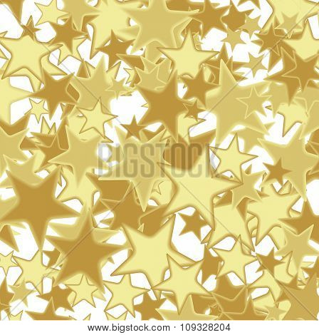 Golden Abstract background with stars. Illustration