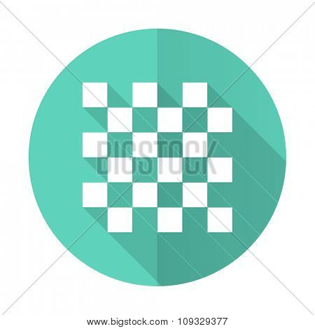chess blue web flat design circle icon on white background