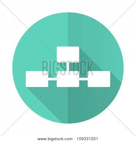 database blue web flat design circle icon on white background