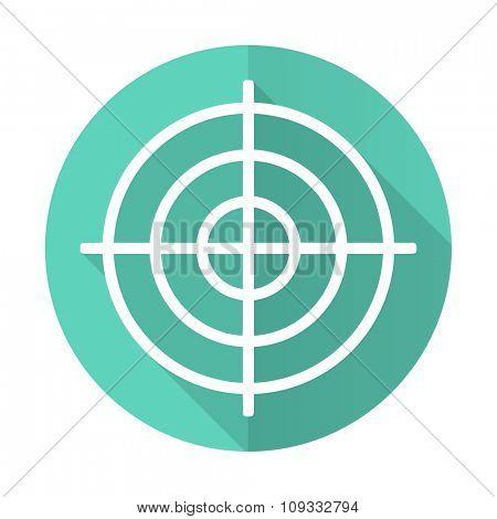 target blue web flat design circle icon on white background