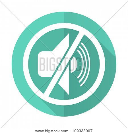 mute blue web flat design circle icon on white background