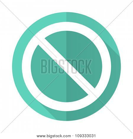 access denied blue web flat design circle icon on white background
